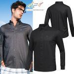 [그렉노먼] 면폴리 단추포인트 남성 셔츠스타일 긴팔티셔츠/골프웨어_251418