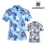 아날도바시니 냉감 꽃무늬 메쉬 반팔 셔츠 BS20M410