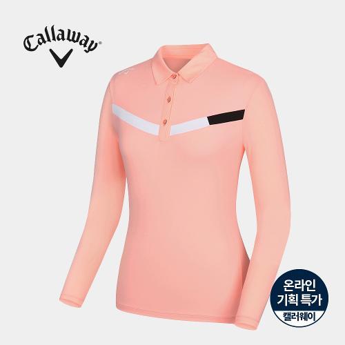 [캘러웨이]기획 여성 소매 냉감 배색 카라 티셔츠 CWTYJ6754-304_G