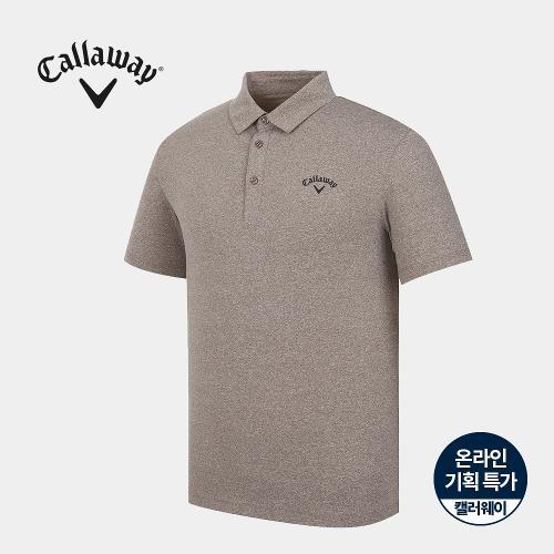 [캘러웨이]기획 남성 멜란지 카라 반팔 티셔츠 CMTYJ2671-509_G