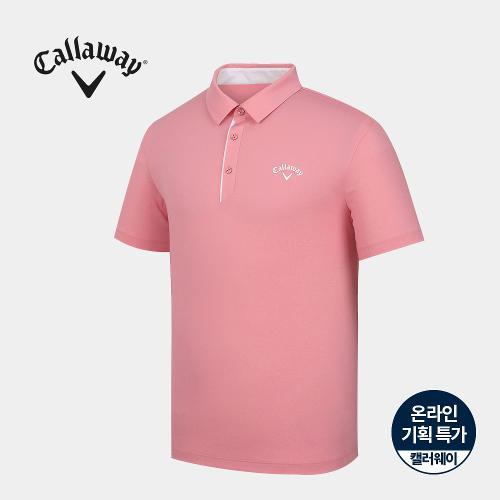 [캘러웨이]기획 남성 심플 배색 카라 반팔 티셔츠 CMTYJ2670-403_G