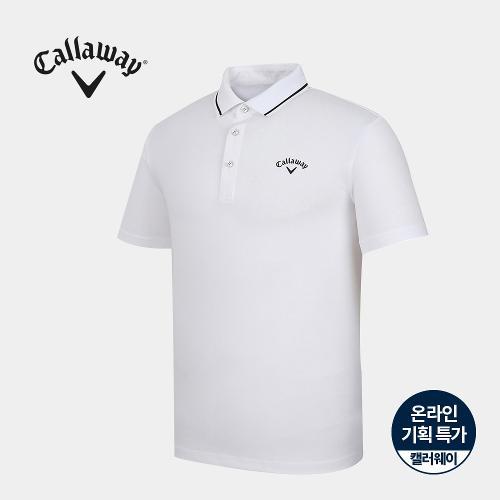 [캘러웨이]기획 남성 카라 배색 반팔 티셔츠 CMTPJ2666-100_G