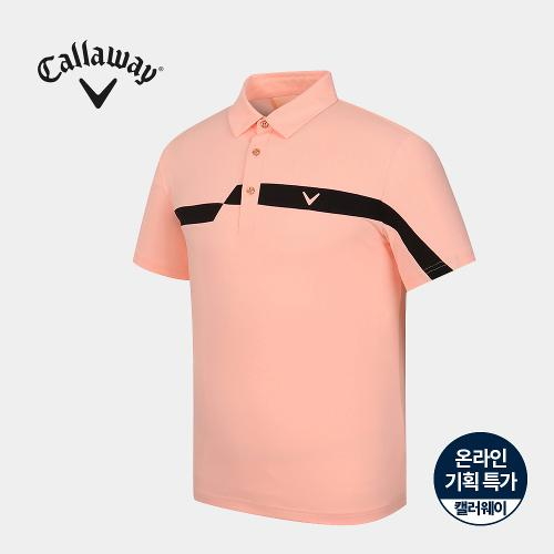 [캘러웨이]기획 남성 매쉬 배색 카라 반팔 티셔츠 CMTYJ2755-304_G