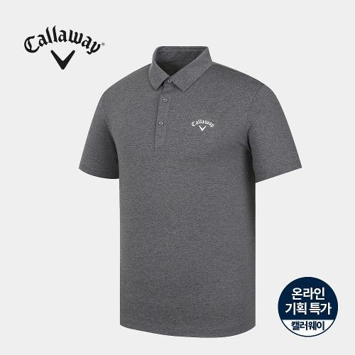[캘러웨이]기획 남성 멜란지 카라 반팔 티셔츠 CMTYJ2671-193_G