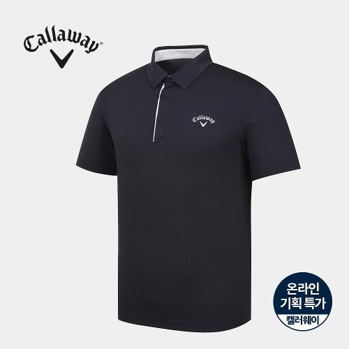 [캘러웨이]기획 남성 심플 배색 카라 반팔 티셔츠 CMTYJ2670-195_G