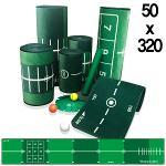 제이빅-피스탑 골프 퍼팅매트/골프연습용품/볼궤적표시50x320