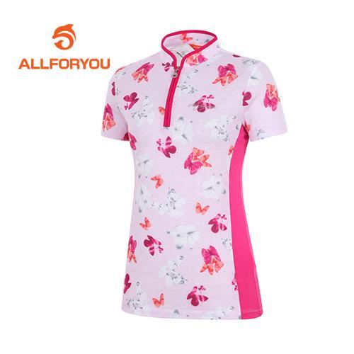 [올포유]여성 나비 프린트 반팔 티셔츠_AWTHG6126-403_G