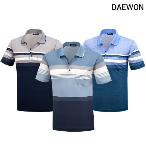 [DAEWON] 대원 심플 투톤 PK 면 반팔티셔츠 Model No_I2-0W039