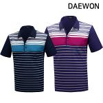 [DAEWON] 대원 라인 패턴 카라 면 반팔티셔츠 Model No_I2-0W038