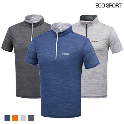 [ECO SPORTS] 에코스포츠 멜란지 집업 반팔티셔츠 Model No_DB0159