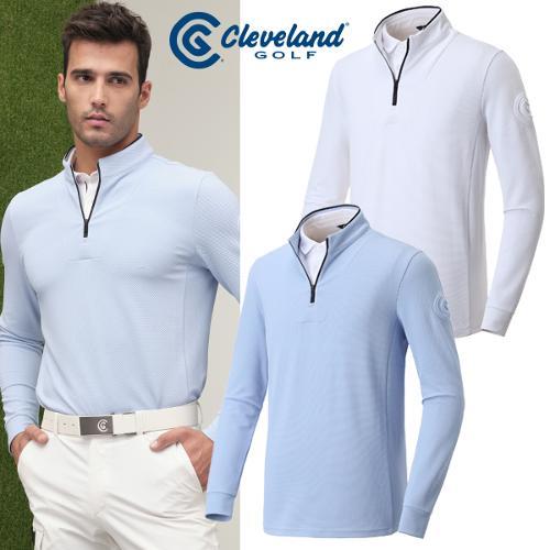 [클리브랜드골프] 2in 1 셔츠 레이어드형 볼륨로고 남성 긴팔티셔츠/골프웨어_CGKMTS014