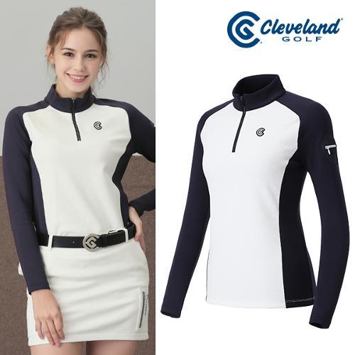 [클리브랜드골프] X-PERT 미니포켓 쿠션기모 하프집업 여성 긴팔티셔츠/골프웨어_CGKWTS625