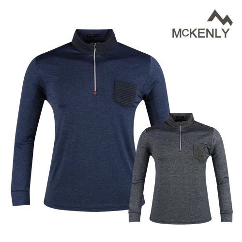 맥켄리 반집업  카치온 긴팔 골프 셔츠 RM20A437