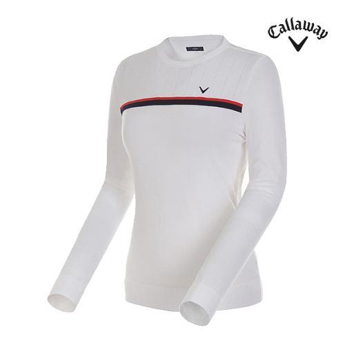 [캘러웨이]여성 스트라이프 라운드넥 스웨터 CWSRG7201-100_G