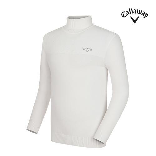 [캘러웨이] 남성 자수 포인트 폴라 긴팔 스웨터 CMSHG3272-100_G