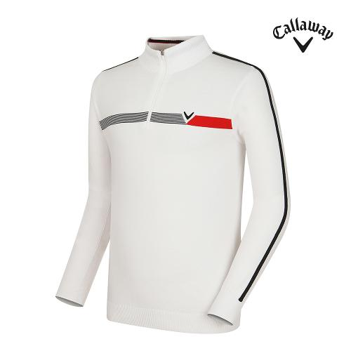 [캘러웨이] 남성 띠배색 포인트 반집업 긴팔 스웨터 CMSHG3251-100_G