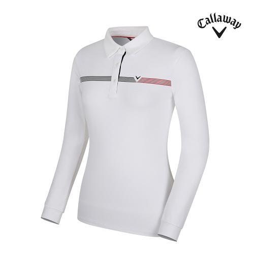 [캘러웨이] 여성 원포인트 카라 긴팔 티셔츠 CWTYG7151-100_G