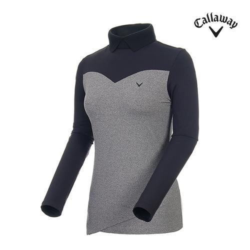 [캘러웨이]여성 컬러블록 니트 카라 티셔츠 CWTHI7264-193_G