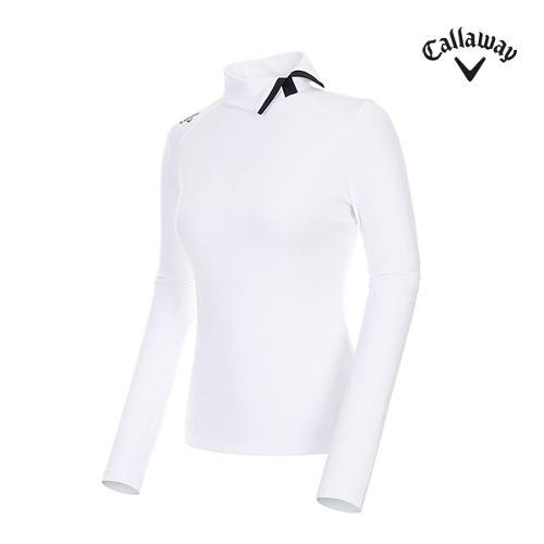 [캘러웨이]여성 하이넥 포인트 골지 티셔츠 CWTHI7251-100_G