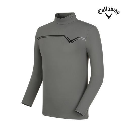 [캘러웨이] 남성 로고 포인트 하이넥 긴팔 티셔츠 CMTHF3141-190_G