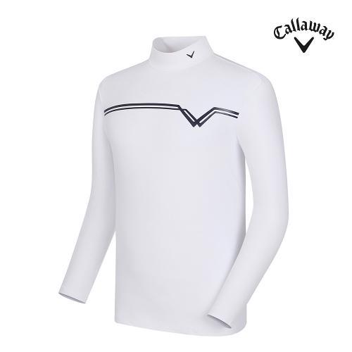 [캘러웨이] 남성 로고 포인트 하이넥 긴팔 티셔츠 CMTHF3141-100_G