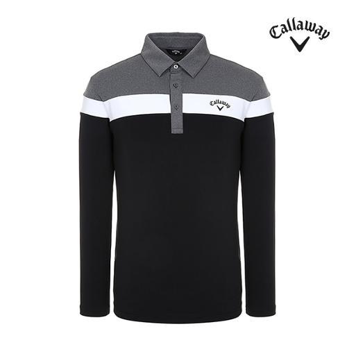 [캘러웨이]남성 컬러블럭 긴팔 카라 티셔츠 CMTYI3267-199_G