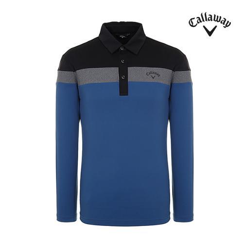 [캘러웨이]남성 컬러블럭 긴팔 카라 티셔츠 CMTYI3267-905_G