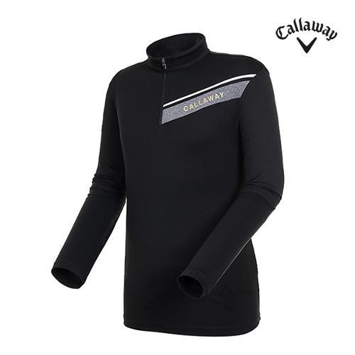 [캘러웨이]남성 원포인트 반집업 하이넥 티셔츠 CMTHI3146-199_G