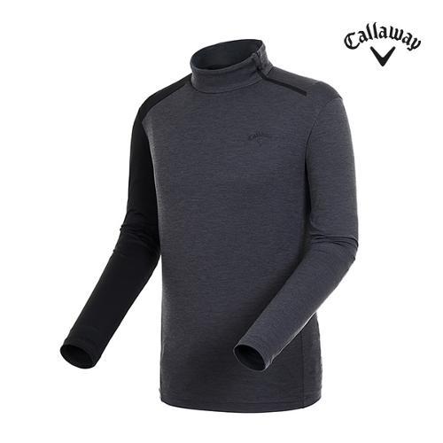 [캘러웨이]남성 언발란스 소매 배색 반집업 티셔츠 CMTHI3149-193_G