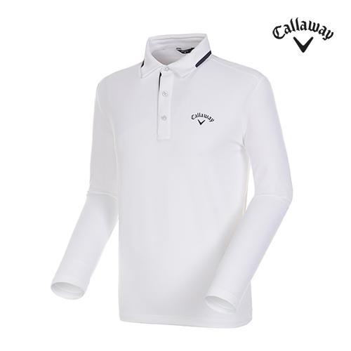 [캘러웨이]남성 스포티 컬러 트리밍 카라 티셔츠 CMTYG3104-100_G