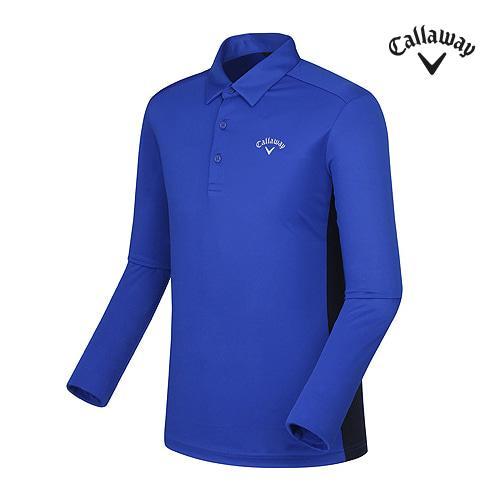 [캘러웨이]남성 라인 포인트 카라 티셔츠 CMTYF3101-907_G
