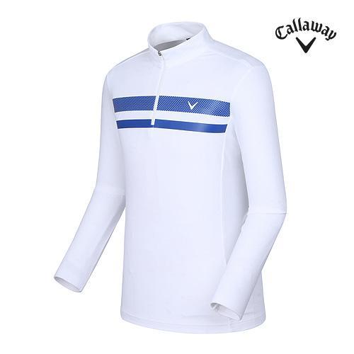 [캘러웨이]남성 도트 배색 하이넥 티셔츠 CMTHF3105-100_G