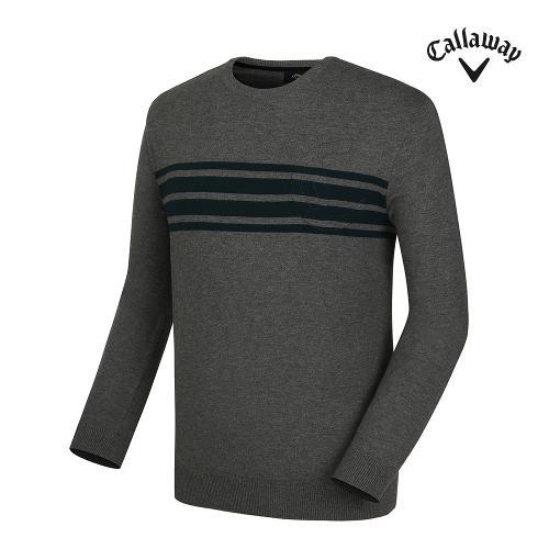 [캘러웨이] 남성 띠배색 로고 긴팔 스웨터 CMSRG3271-193_G