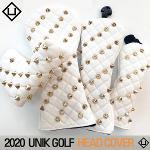 유니크골프 2020 UNIK GOLF 헤드커버 화이트 블랙