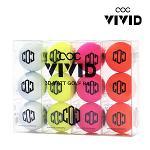 국내생산 콕 COC 비비드 3D 매트 2피스 골프공/컬러볼